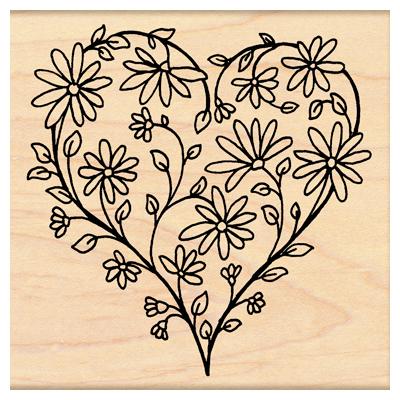 Penny Black 4291K Daisy Heart
