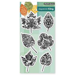 Penny Black 40-398 Pumpkin Patch Slapstick//Cling Decorative Rubber Stamp