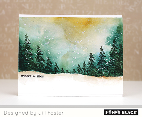 New pb j video the penny black blog Christmas card scenes to paint