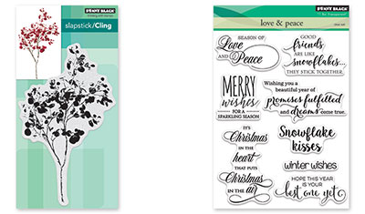 Penny Black Love /& Peace Clear Stamp Set 30-453 New!